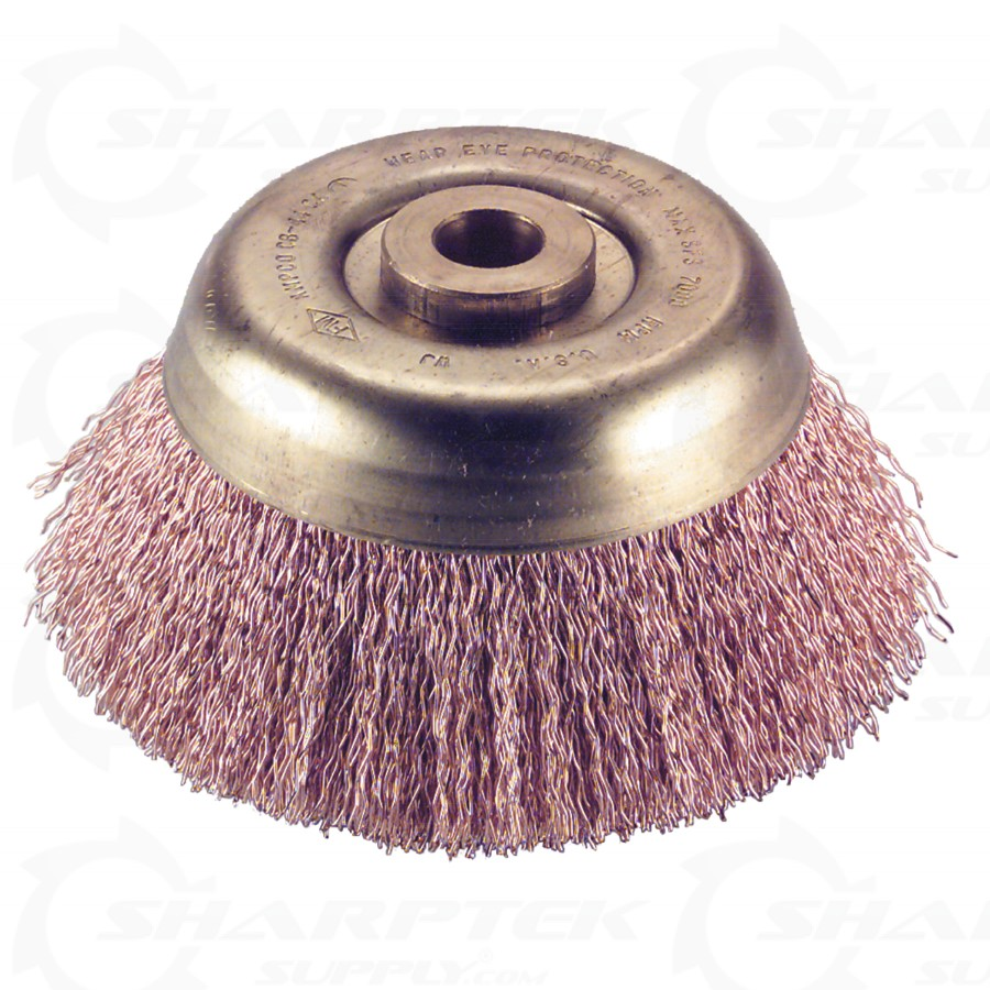 Corrosion Resistant Non-Sparking Non-Magnetic Ampco Safety Tools CB-30-CT Brush with Cup Crimped Wire 3 Diameter