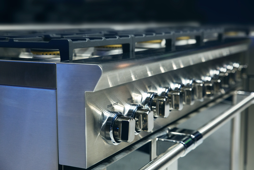 controls professional gas oven