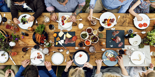 group people dining concept