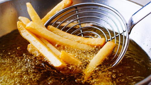 deep frying french fries